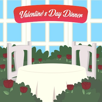 Invitation card valentine dinner