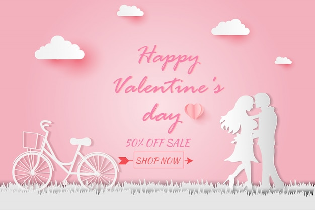 Invitation card valentine's day abstract background.