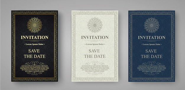 Invitation card vector design