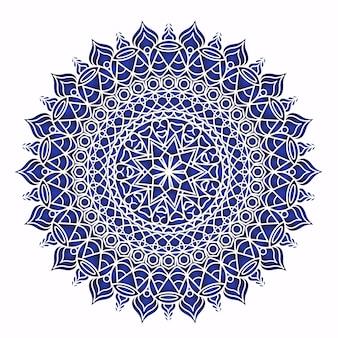 보라색 배경에 만다라 패턴 초대 카드 빈티지 디자인