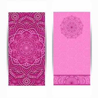 Invitation card vintage design with mandala pattern