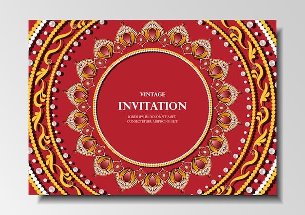 Invitation card vintage design