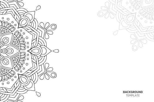 Пригласительная открытка с цветочным орнаментом backgraund