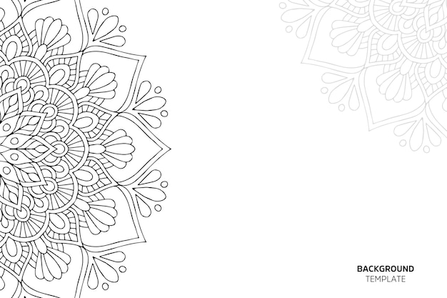 Invitation card with floral ornament backgraund