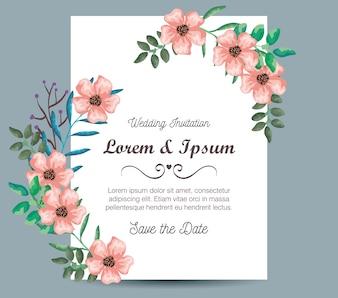 花の装飾の招待状