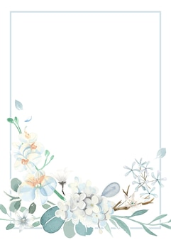Invitation card with a light blue theme
