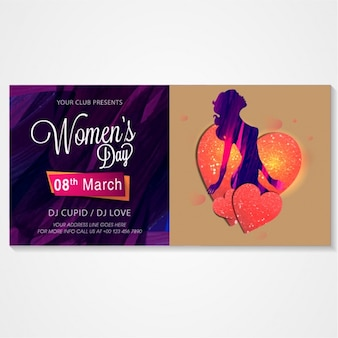 Invitation card for women's day party