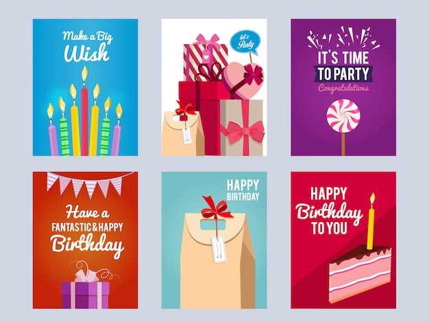어린이 생일 파티 초대장 카드.