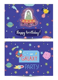 Invitation on children costumed birthday party