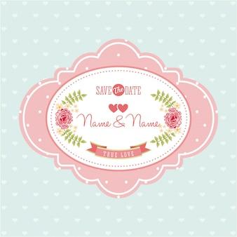 Invitation design over blue background vector illustration