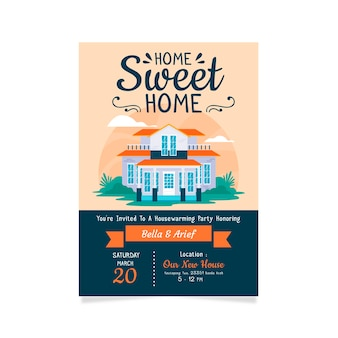 Invitation design housewarming party