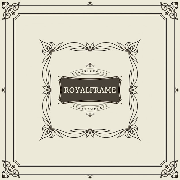 Invitation frame. vintage ornament greeting card vector template