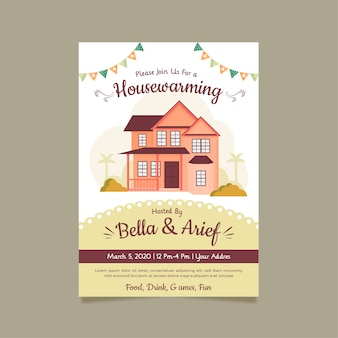 Invitation for housewarming party