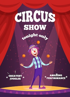 Invitation poster for circus show or magicians performance