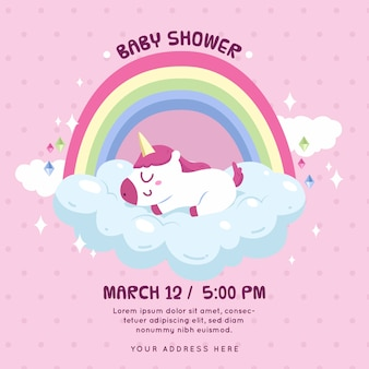 Invitation style for girl baby shower