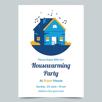 Invitation style housewarming party