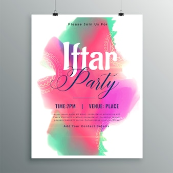 Invitation template design of iftar party