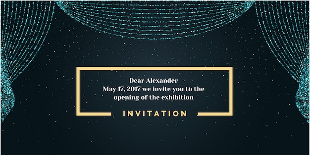 Invitation template for the event.