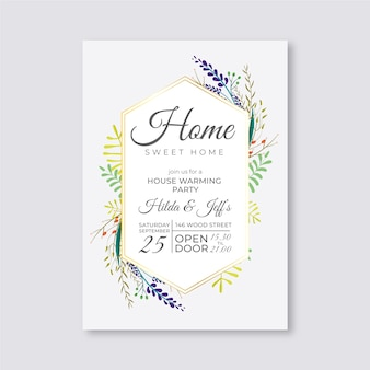 Invitation template housewarming party
