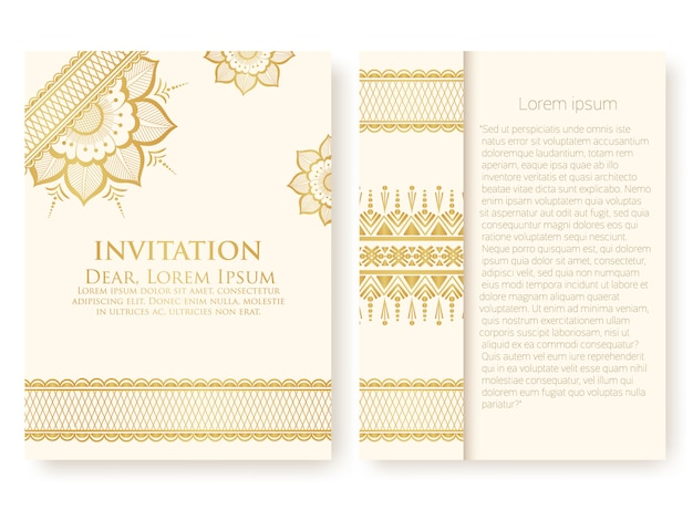Invitation template with abstract ornaments