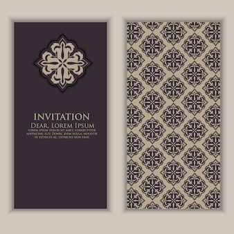 Invitation template with arabic decorative elements