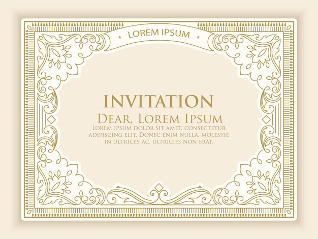 Invitation template with elegant vintage decoration