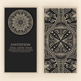 Invitation template with vintage decorative elements