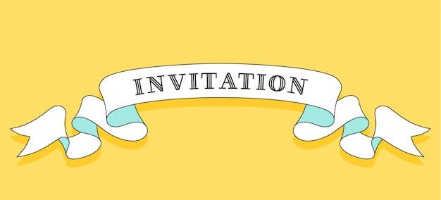 Invitation. vintage trendy ribbon