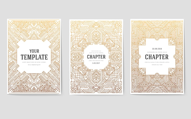 Invitations in a modern style for business. traditional ornament design for branding