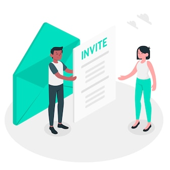 Invite concept illustration