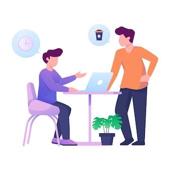 Invite to drink coffee illustration