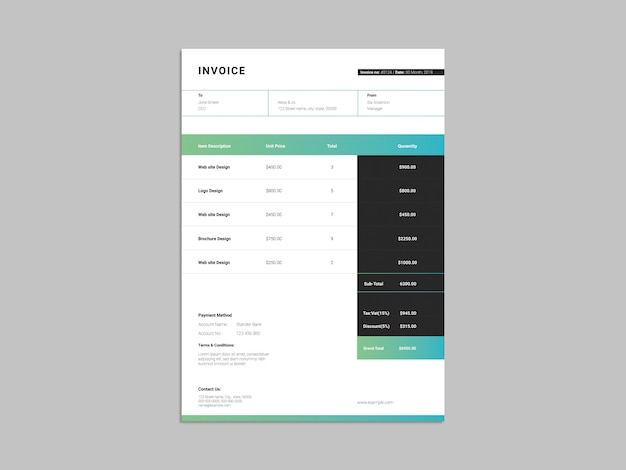 Invoice business template