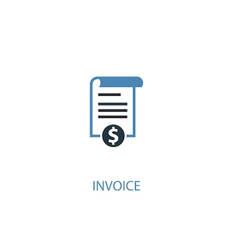 Invoice concept 2 colored icon. simple blue element illustration. invoice concept symbol design. can be used for web and mobile ui/ux