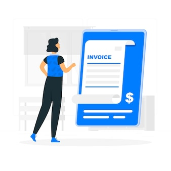 Invoice concept illustration