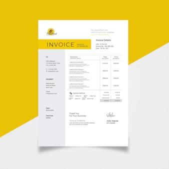 Invoice design for restaurant