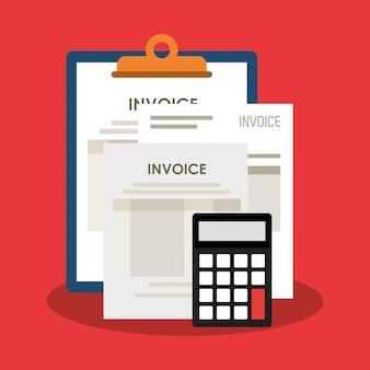Invoice economy related icons