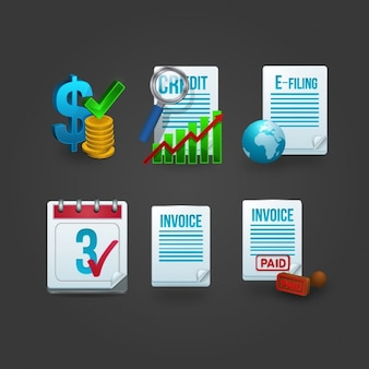 Invoice icon collection