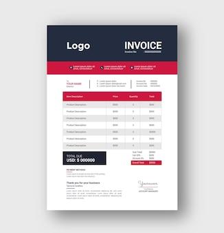 Invoice tamplete design