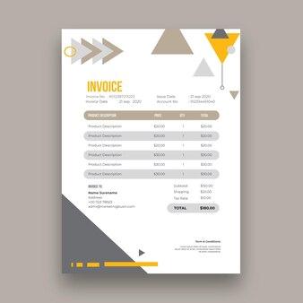 一般的なビジネスの請求書テンプレート