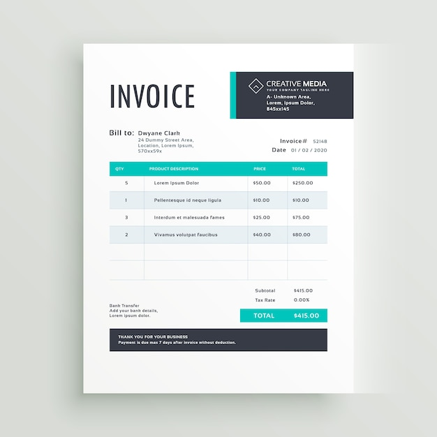 Invoice Design Rent Interpretomics Co
