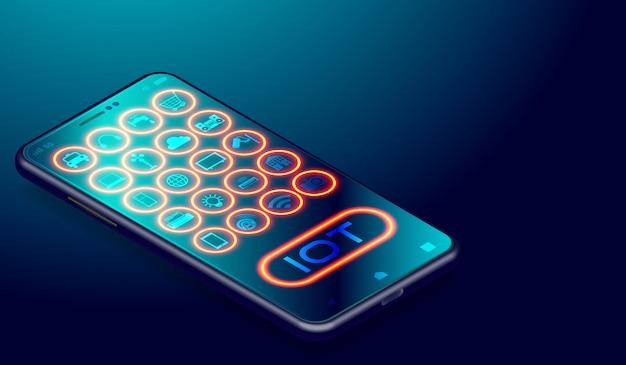 スマートフォンアプリケーション上のモノのiotインターネット