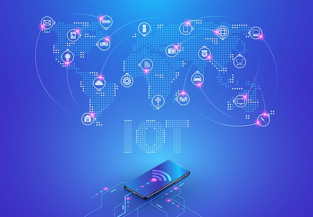 (iot) internet of things and network connection
