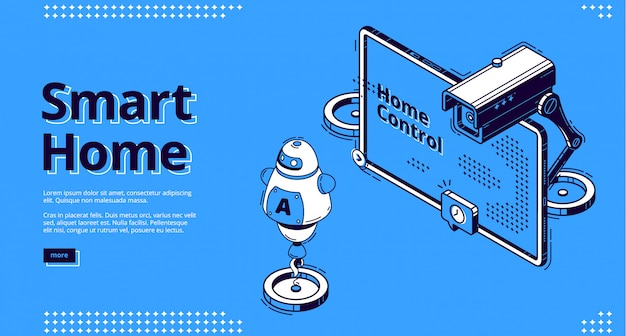 Интернет вещей изометрические веб-дизайн, iot.