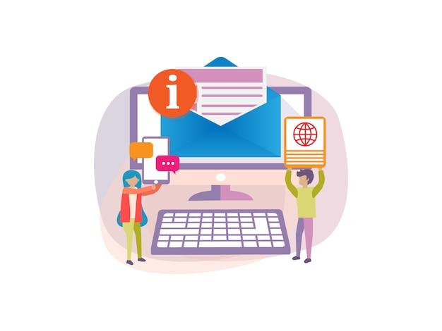 Концепция цифровой информации iot для веб-баннера