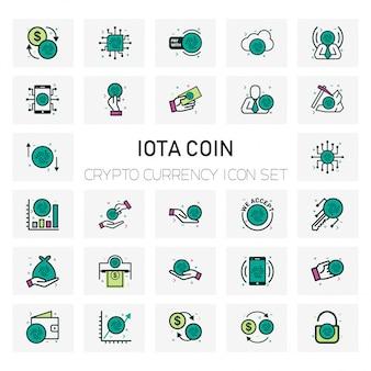 Набор иконок для монет iota crypto