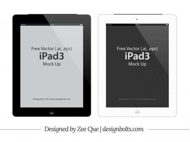 Ipad 3 tablet mockup template