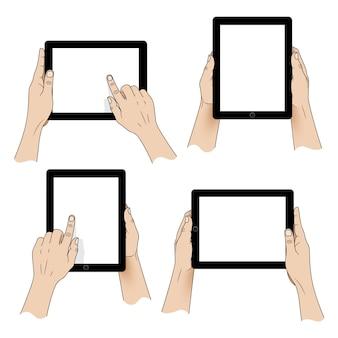 Руки держат ipad pack
