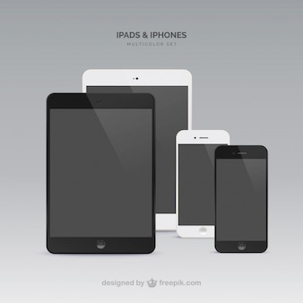 Ipads mini one in black another in white