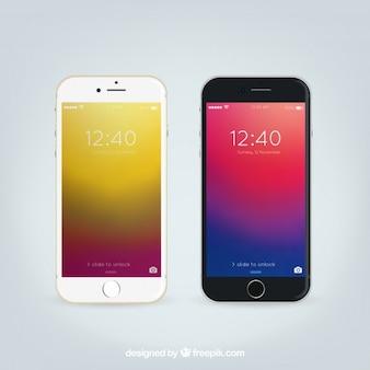 Iphone 6現実的なモックアップ