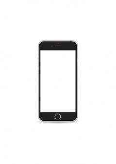 Iphone color black mockup vector